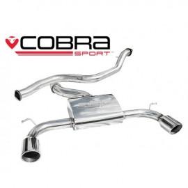 Echappement COBRA Sport pour FORD FOCUS ST 225apres catalyseur avec silencieux arriere sans silencieux intermediaire