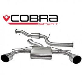 Echappement COBRA Sportpour FORD Focus RS (MK2) apres catalyseur (Catback) avec silencieux arriere avec resonateur