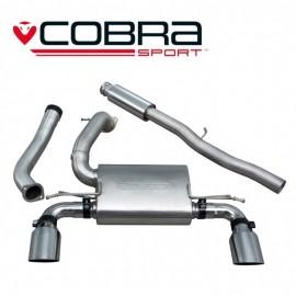 Echappement COBRA Sport après catalyseur (Catback) pour FORD Focus RS MK3. Diametre 76.2 mm