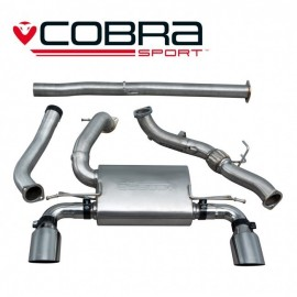 Echappement COBRA Sport avec decata pour FORD Focus RS MK3. Diametre 76.2 mm