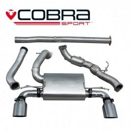 Echappement COBRA Sport avec cata sport pour FORD Focus RS MK3. Diametre 76.2 mm