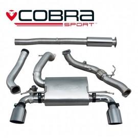 Echappement avec valve COBRA Sport avec decata pour FORD Focus RS MK3. Diametre 76.2 mm