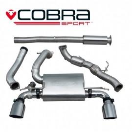 Echappement avec valve COBRA Sport avec cata sport pour FORD Focus RS MK3. Diametre 76.2 mm