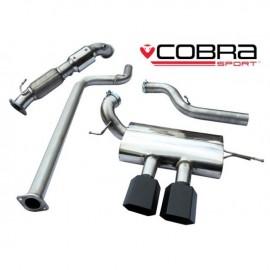 Echappement COBRA à partir du turbo avec catalyseur sport 200 cell pour FORD Focus ST 250 (MK3)