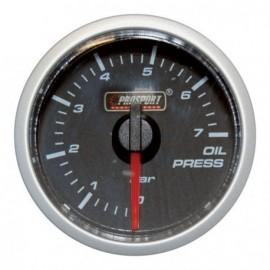 Manomètre Prosport Pression Huile Diamètre 52mm 0 à 7 Bars + Sonde