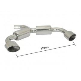 Scirocco  Silencieux arrière duplex en inox g/d avec 1 sortie ovale Sport Line 135x90 mm - Modifier le pare-chocs d'origine
