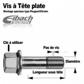 Vis de roue à portées plates M12 x 125 x 42mm Eibach