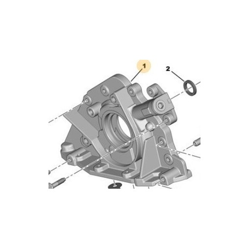 Pompe a huile moteur EW10J4S origine peugeot