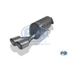 Silencieux arrière inox pour Peugeot 207 RC Fox -