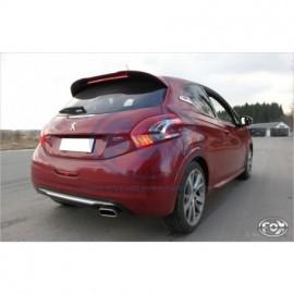 Silencieux arrière inox pour Peugeot 208 GTI Fox