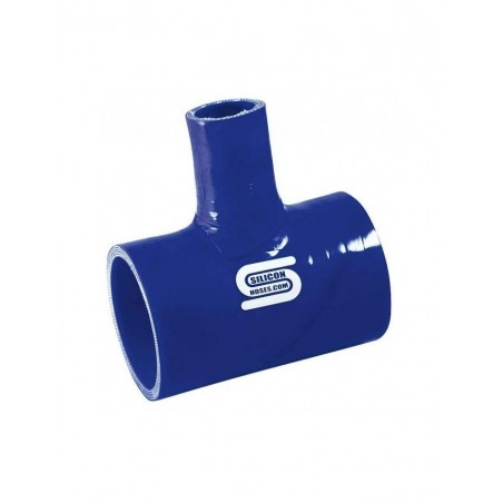T Silicone Silicon Hoses 48mm + tube 25mm Bleu