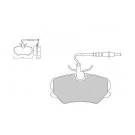 Plaquettes de freins Galfer avant 306 s16 bv5 Sport FDT1055