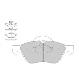 Plaquettes de freins Galfer avant twingo rs Sport FDT1055