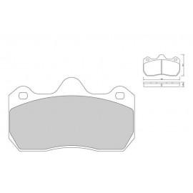 Plaquettes de freins Galfer avant clio v6 Sport FDT1055