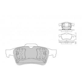 Plaquettes de freins Galfer arriere megane 2 rs Sport FDT1055