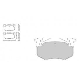 Plaquettes de freins Galfer arriere xsara vts 02-05 Sport FDT1055