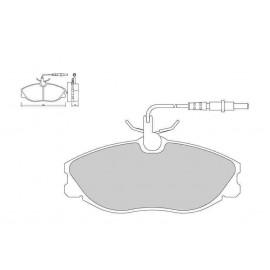 Plaquettes de freins Galfer avant xsara vts 98-02 Sport FDT1055
