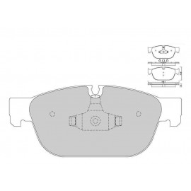 Plaquettes de freins Galfer avant 308 gti Sport FDT1055