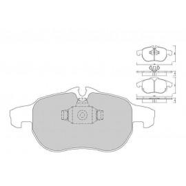 Plaquettes de freins Galfer avant astra h opc Sport FDT1055