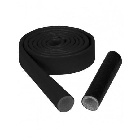 Gaine Thermique Silicone Noir Diamètre 12mm Longueur 1m