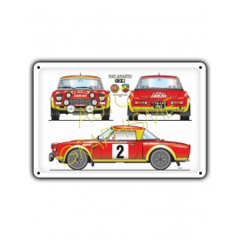 Plaque Metallique FIAT 124 ABARTH MC