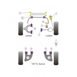 Silent-Bloc Powerflex Barre Anti-Roulis Avant Volkswagen Combi (2 Pièces)