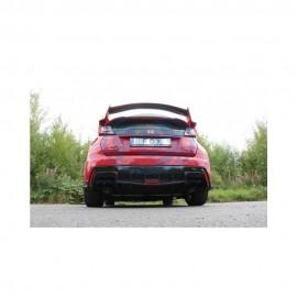 FOX Silencieux arrière duplex D/G inox pour Honda Civic IX Type R