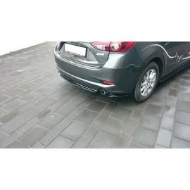MAXTON CENTRAL ARRIÈRE SPLITTER Mazda 3 BN (Mk3) Facelift (sans barres verticales)