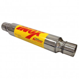 47mm - Silencieux inox RC RACING à souder, corps 101mm, longueur totale 630mm