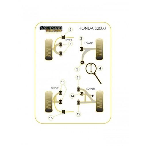 Silent-Bloc Powerflex Black Bras de Controle Arrière Honda S2000 (2 Pièces)