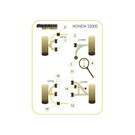 Silent-Bloc Powerflex Black Triangle Arrière Inférieur Avant Honda S2000 (2 Pièces)