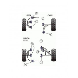 Silent-Bloc Powerflex Barre Barre Anti-Roulis Avant Honda S2000 (2 Pièces)