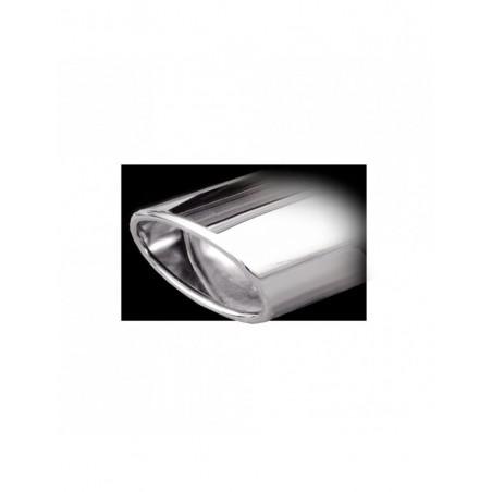 Echappement Inoxcar Silencieux Arrière 1X120X80 Oblique VOLKSWAGEN GOLF 5 2.0 TDI 140CV après 2004 diam 55