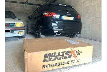 Installation d une ligne Milltek sans intermédiaire sur la 308 GTI 270 de Ludo