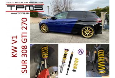 INSTALLATION DE COMBINES KW V1 SUR NOTRE 308 GTI 270